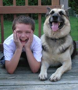 laughing-kid-dog